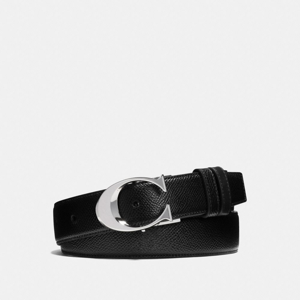 Coach Sculpted C Cut-To-Size Reversible Textured Leather Belt