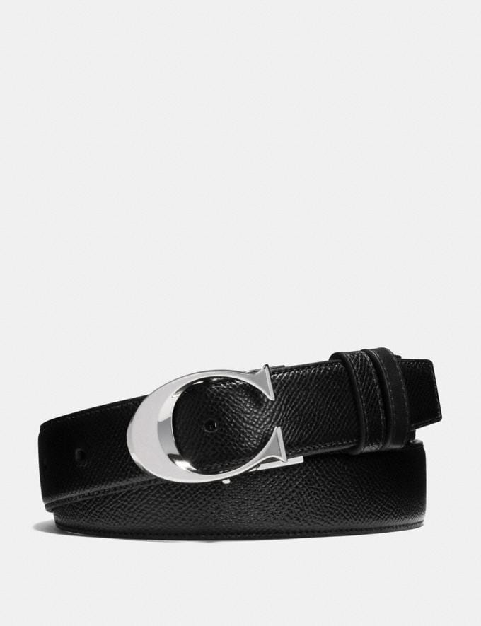 7640590118 Sculpted c Cut-To-Size Reversible Textured Leather Belt