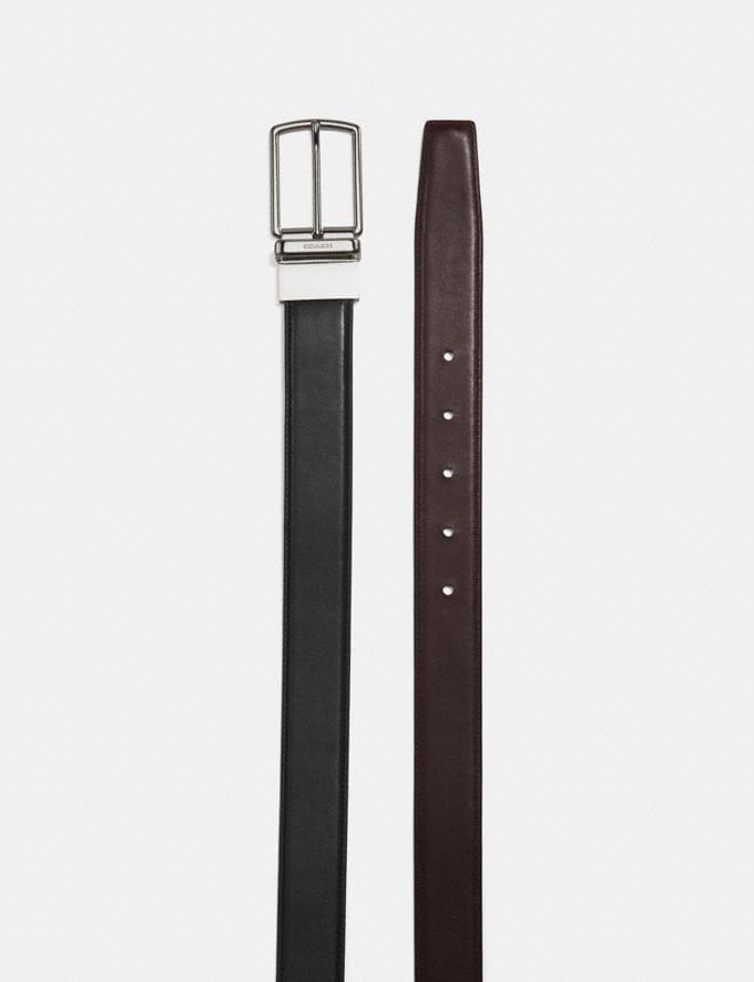Coach Modern Harness Cut-To-Size Reversible Belt Black/Dark Brown  Alternate View 1