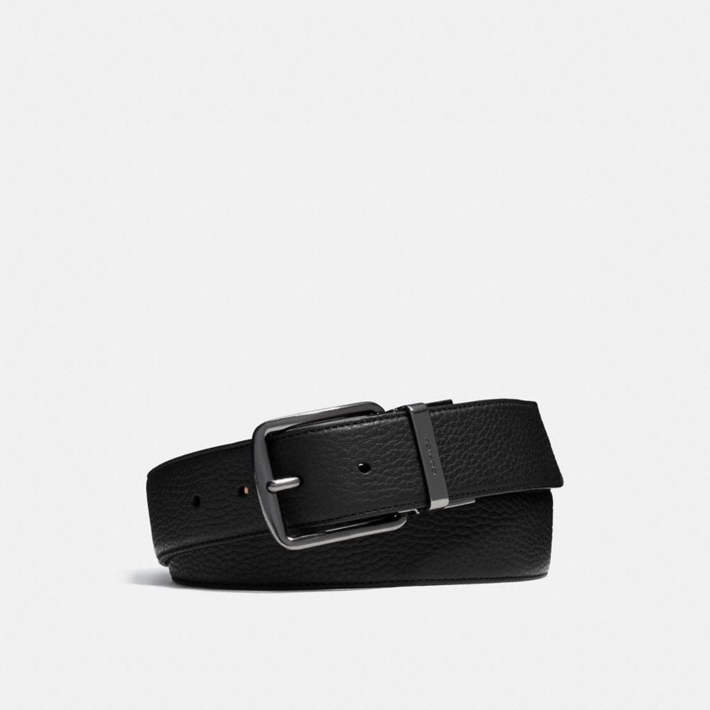 WIDE CUT-TO-SIZE REVERSIBLE LEATHER BELT
