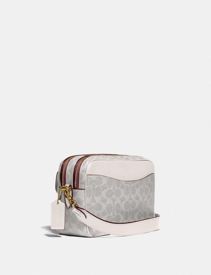 Coach Cassie Camera Bag in Signature Canvas B4/Chalk Chalk New Women's New Arrivals Alternate View 1