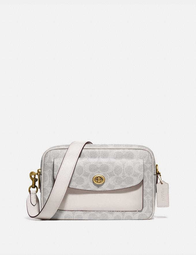 Coach Cassie Camera Bag in Signature Canvas B4/Chalk Chalk New Women's New Arrivals