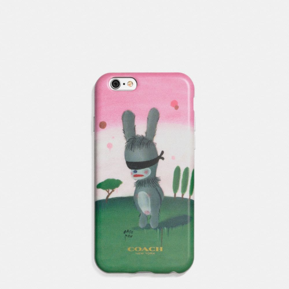 COACH X BASEMAN EMMANUEL HARE RAY IPHONE 6 CASE IN MOLDED PLASTIC