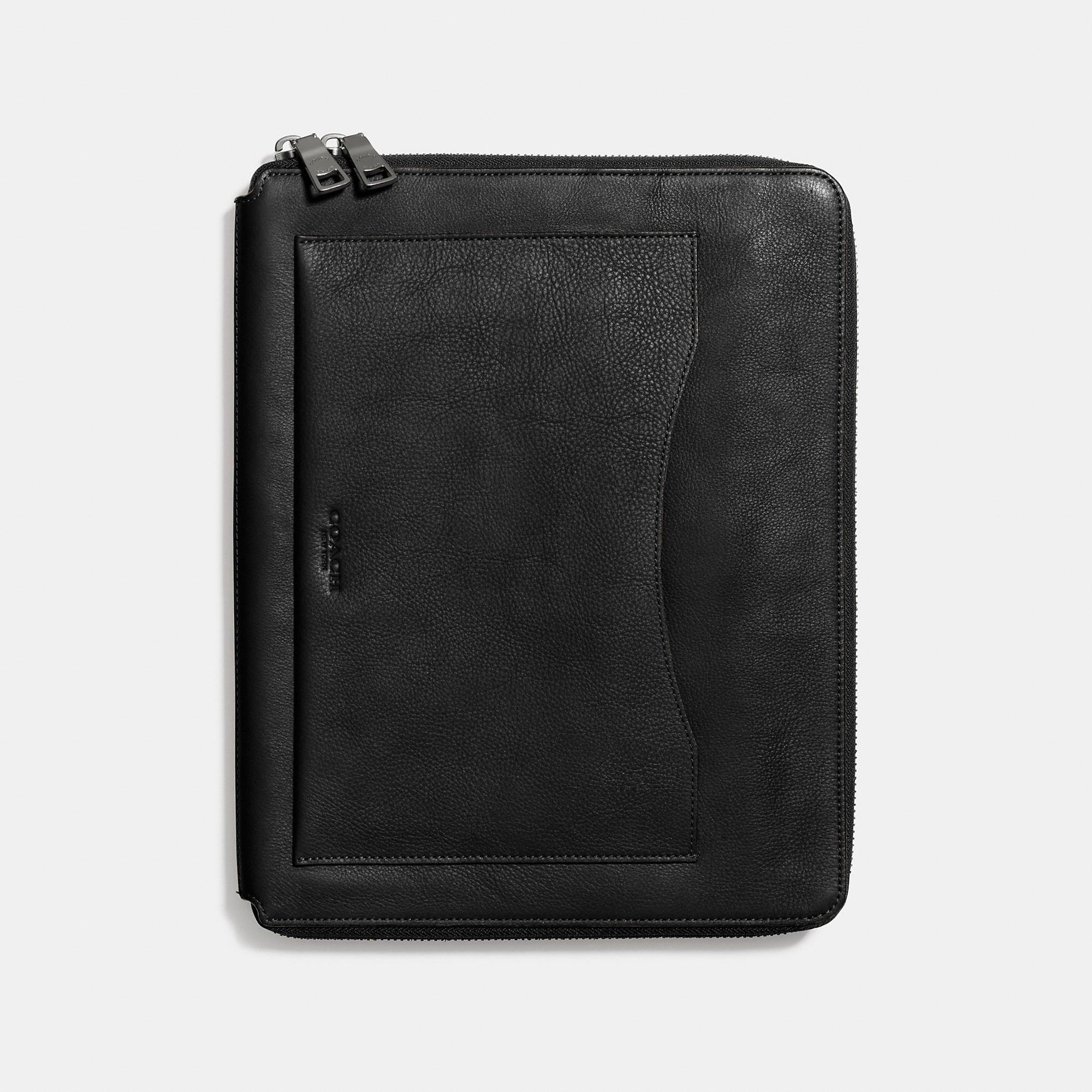 Coach Tech Case In Pebble Leather