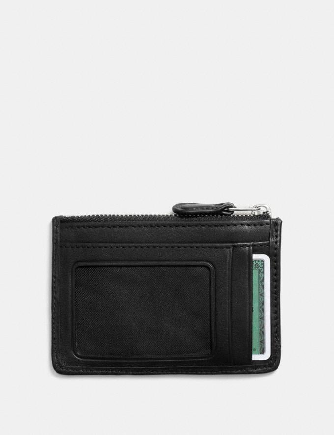 Coach Mini Skinny Id Case in Signature Jacquard Black Smoke/Black/Silver Women Wallet Guide Alternate View 1