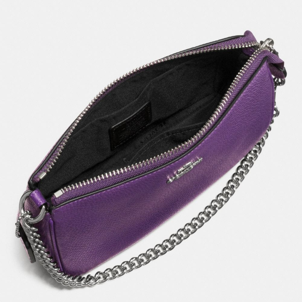 Coach  Nolita Wristlet 19 in Polished Pebble Leather Alternate View 1
