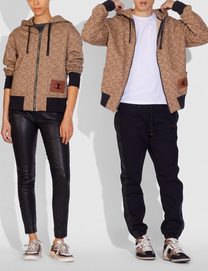 Coach Sudadera Con Capucha Y Cremallera De Firma De Superlana Para Mujer De Coach X Champion Sig C DEFAULT_CATEGORY Vistas alternativas 1