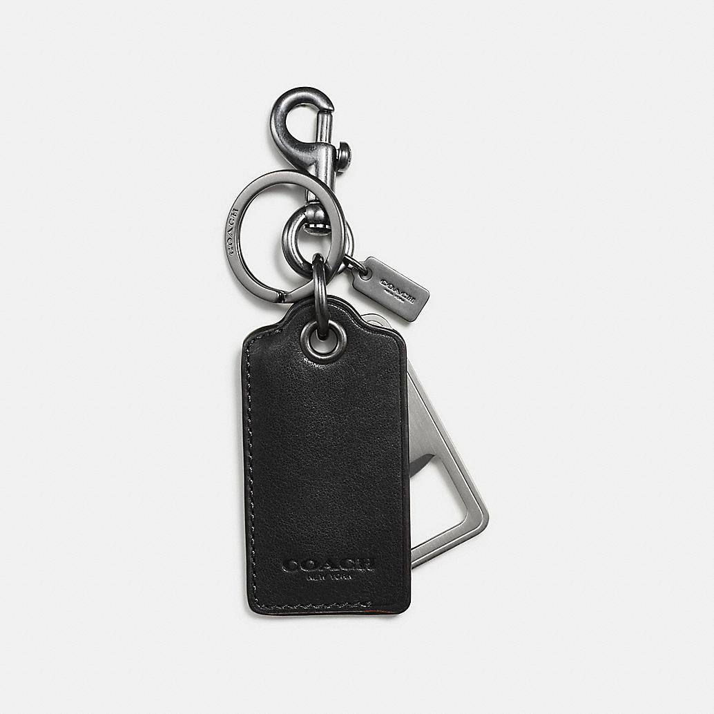 coach mens keychains bottle opener key ring. Black Bedroom Furniture Sets. Home Design Ideas