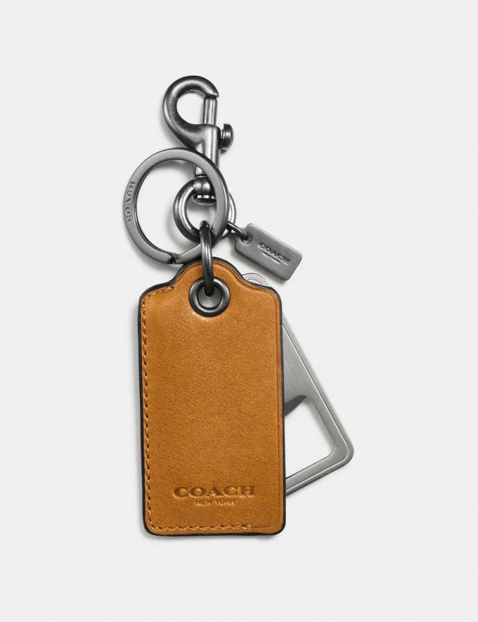 Coach Bottle Opener Key Ring Dark Honey New Men's New Arrivals Accessories