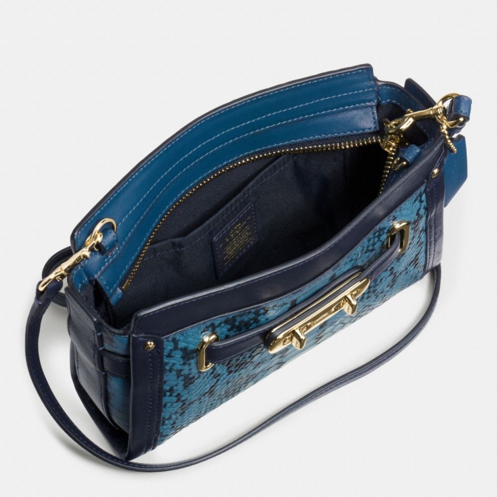 COACH SWAGGER WRISTLET IN COLORBLOCK EXOTIC EMBOSSED LEATHER - Alternate View A1