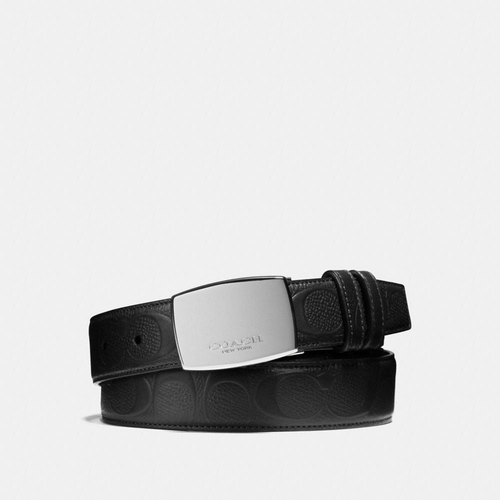 DRESS PLAQUE CUT-TO-SIZE REVERSIBLE BELT IN SIGNATURE LEATHER