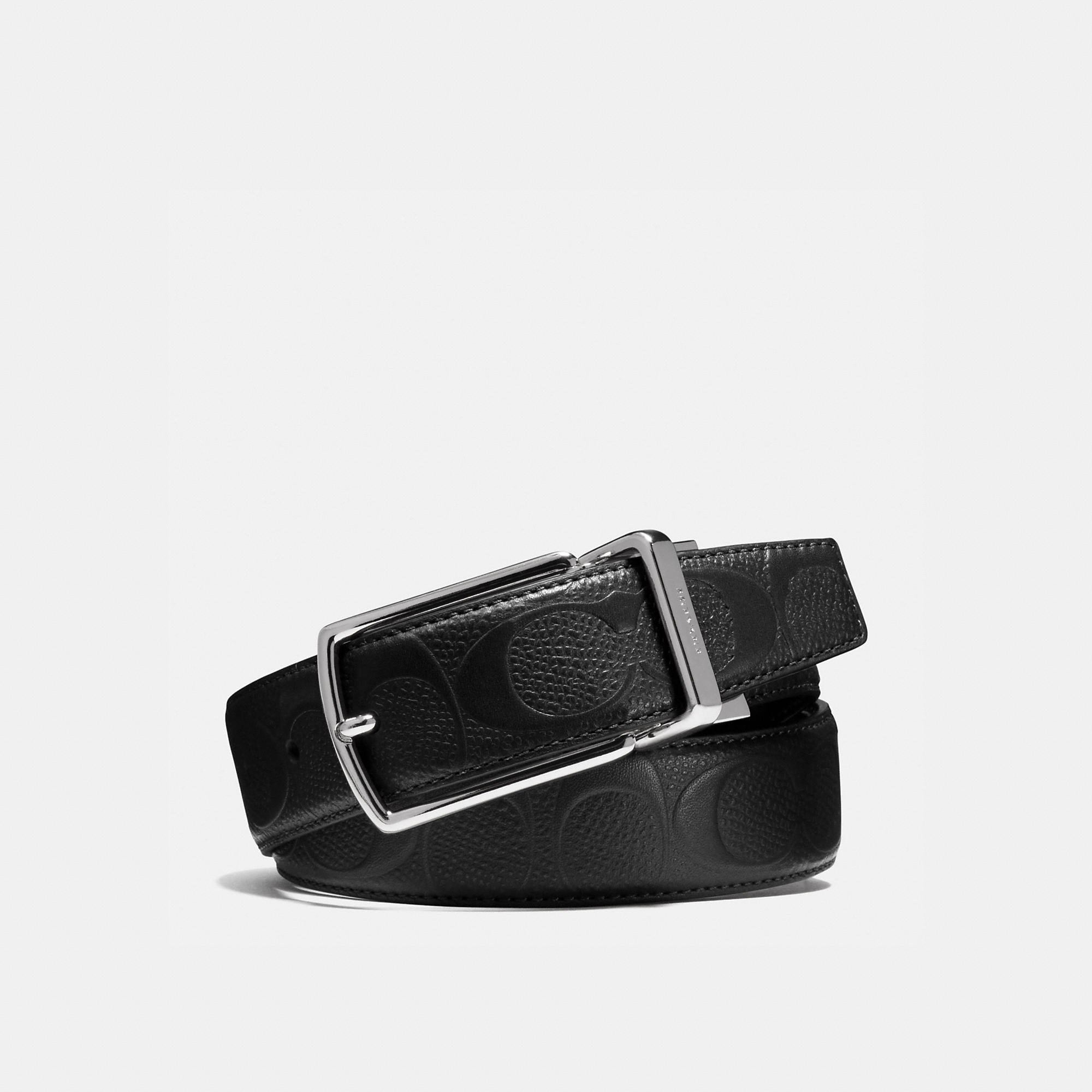 Coach Modern Harness Cut-To-Size Reversible Signature Crossgrain Leather Belt