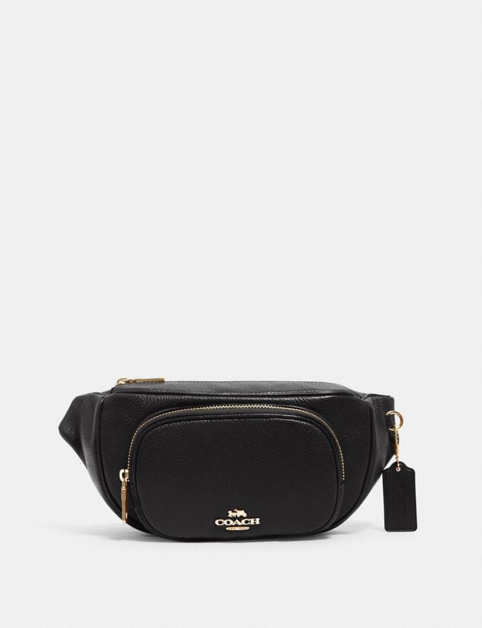 Coach Court Belt Bag Im/Black Translations 9.3 Outlet sale and back in stock