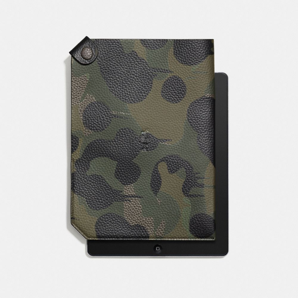 Collection iPad Case in Military Wild Beast Print Leather