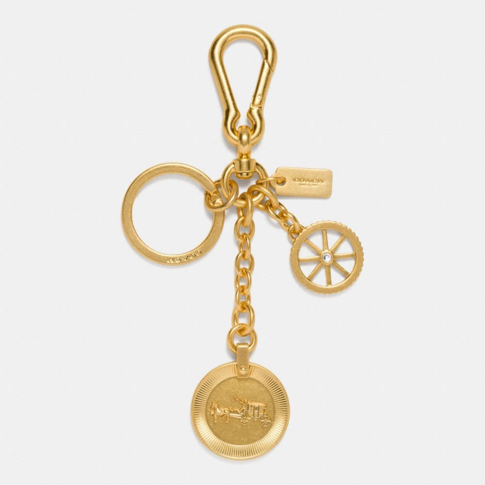 HORSE AND CARRIAGE COIN BAG CHARM