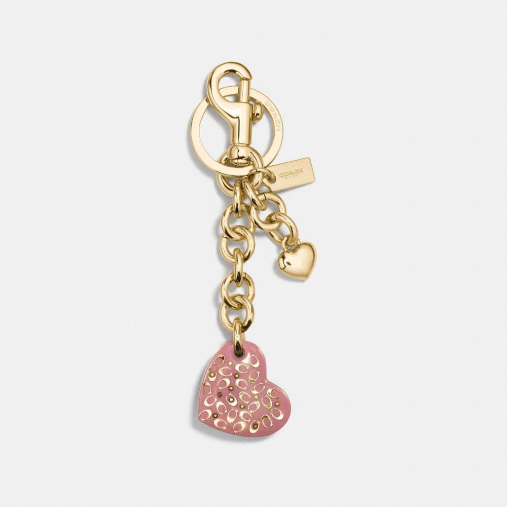resin sprinkle signature heart bag charm
