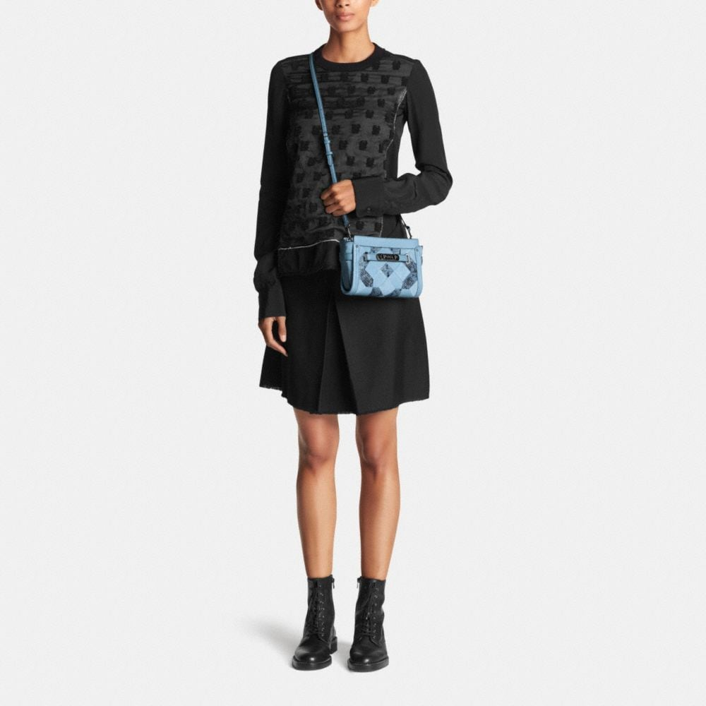 COACH SWAGGER WRISTLET IN PATCHWORK EXOTIC EMBOSSED LEATHER - Alternate View M1