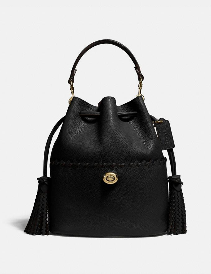 Coach Lora Bucket Bag With Whipstitch Detail B4/Black Gifts For Her Mother's Day Gifts