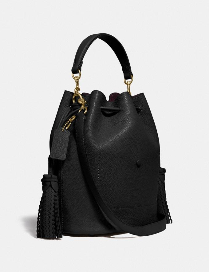 Coach Lora Bucket Bag With Whipstitch Detail B4/Black Gifts For Her Mother's Day Gifts Alternate View 1