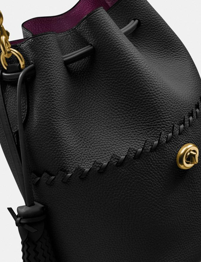 Coach Lora Bucket Bag With Whipstitch Detail B4/Black Gifts For Her Mother's Day Gifts Alternate View 5