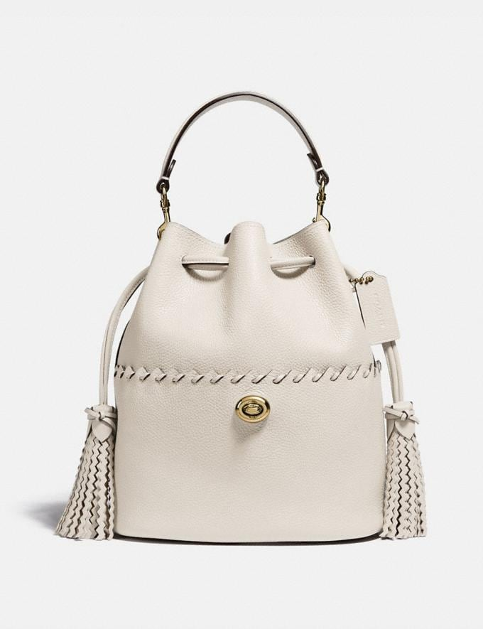 Coach Lora Bucket Bag With Whipstitch Detail B4/Chalk New Women's New Arrivals View All