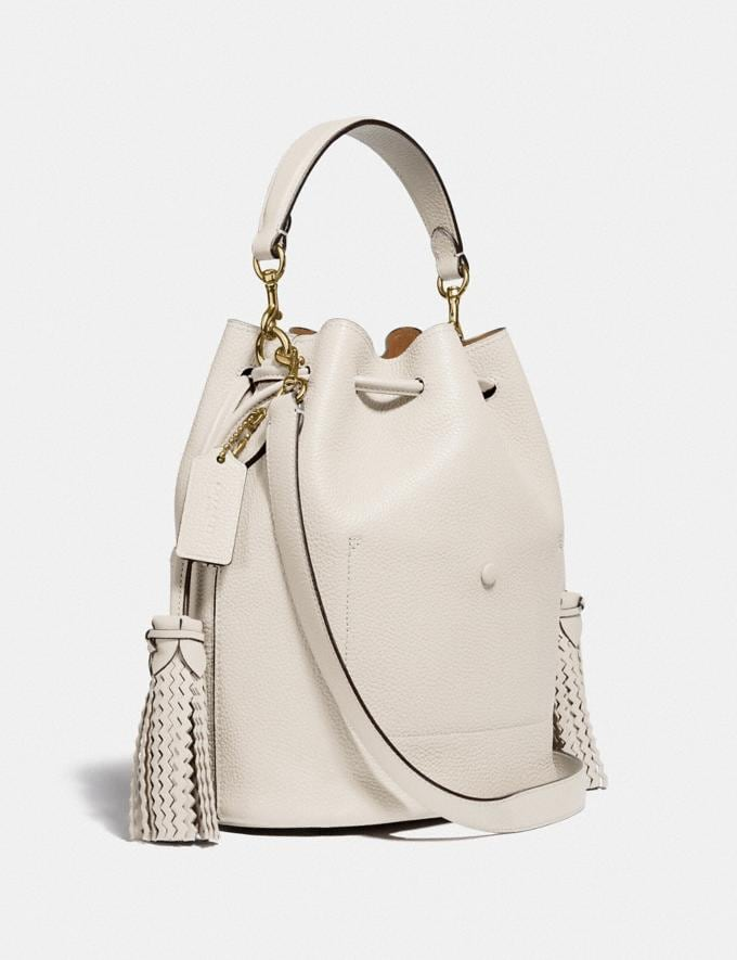 Coach Lora Bucket Bag With Whipstitch Detail B4/Chalk New Women's New Arrivals View All Alternate View 1