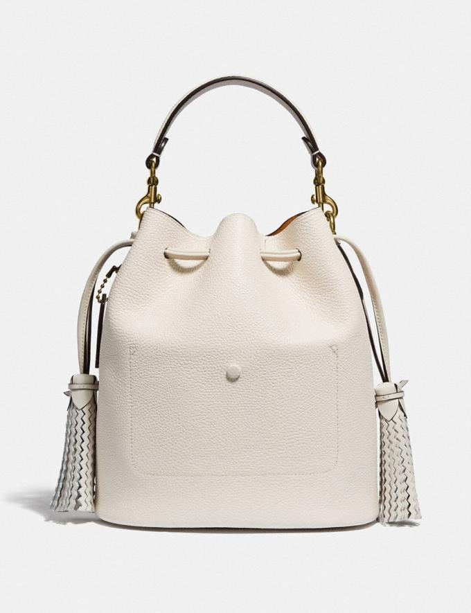 Coach Lora Bucket Bag With Whipstitch Detail B4/Chalk New Women's New Arrivals View All Alternate View 2