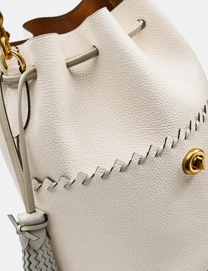 Coach Lora Bucket Bag With Whipstitch Detail B4/Chalk New Women's New Arrivals View All Alternate View 5