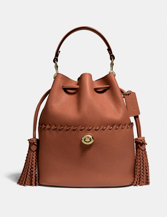 Coach Lora Bucket Bag With Whipstitch Detail B4/1941 Saddle New Women's New Arrivals