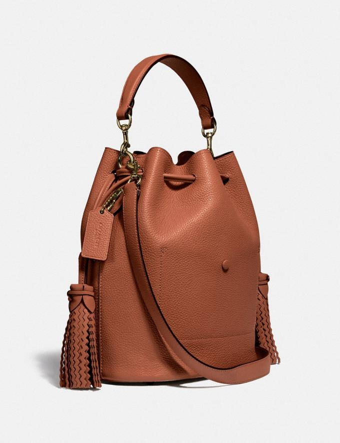 Coach Lora Bucket Bag With Whipstitch Detail B4/1941 Saddle Women Bags Satchels Alternate View 1