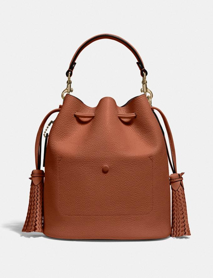 Coach Lora Bucket Bag With Whipstitch Detail B4/1941 Saddle New Women's New Arrivals Alternate View 2