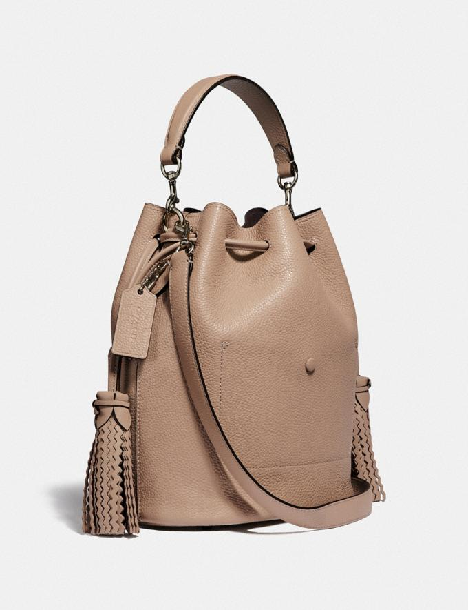 Coach Lora Bucket Bag With Whipstitch Detail Lh/Taupe Women Bags Satchels Alternate View 1