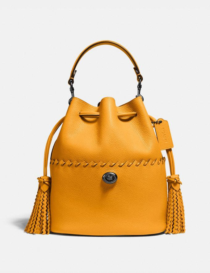 Coach Lora Bucket Bag With Whipstitch Detail Pewter/Pollen Gifts For Her Under $500