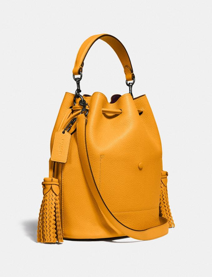 Coach Lora Bucket Bag With Whipstitch Detail Pewter/Pollen Gifts For Her Under $500 Alternate View 1