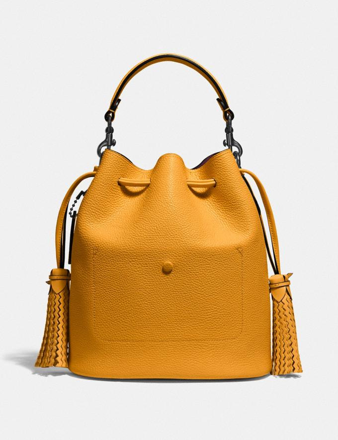 Coach Lora Bucket Bag With Whipstitch Detail Pewter/Pollen Gifts For Her Under $500 Alternate View 2