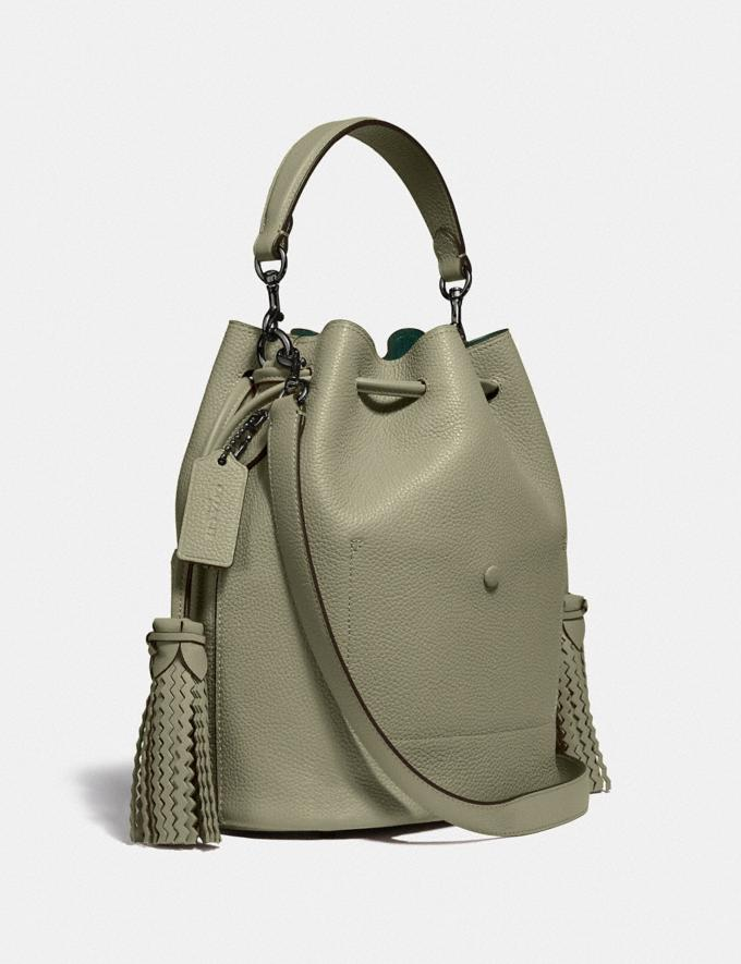 Coach Lora Bucket Bag With Whipstitch Detail V5/Light Fern Women Bags Satchels Alternate View 1