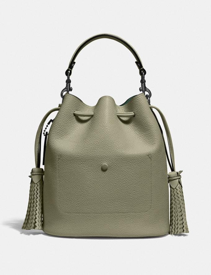 Coach Lora Bucket Bag With Whipstitch Detail V5/Light Fern Women Bags Satchels Alternate View 2