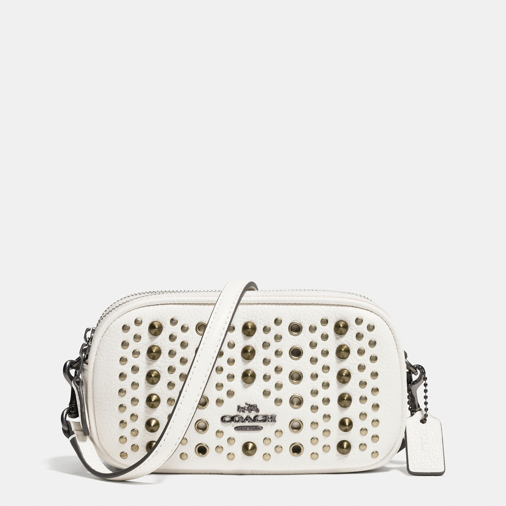 Coach Crossbody Pouch With All Over Studs And Grommets