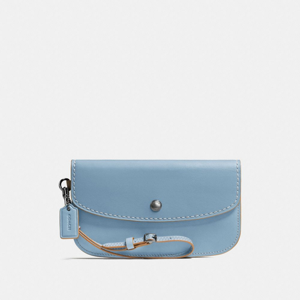 CLUTCH IN GLOVETANNED LEATHER
