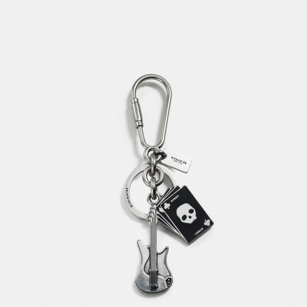 GUITAR AND CARDS KEY RING