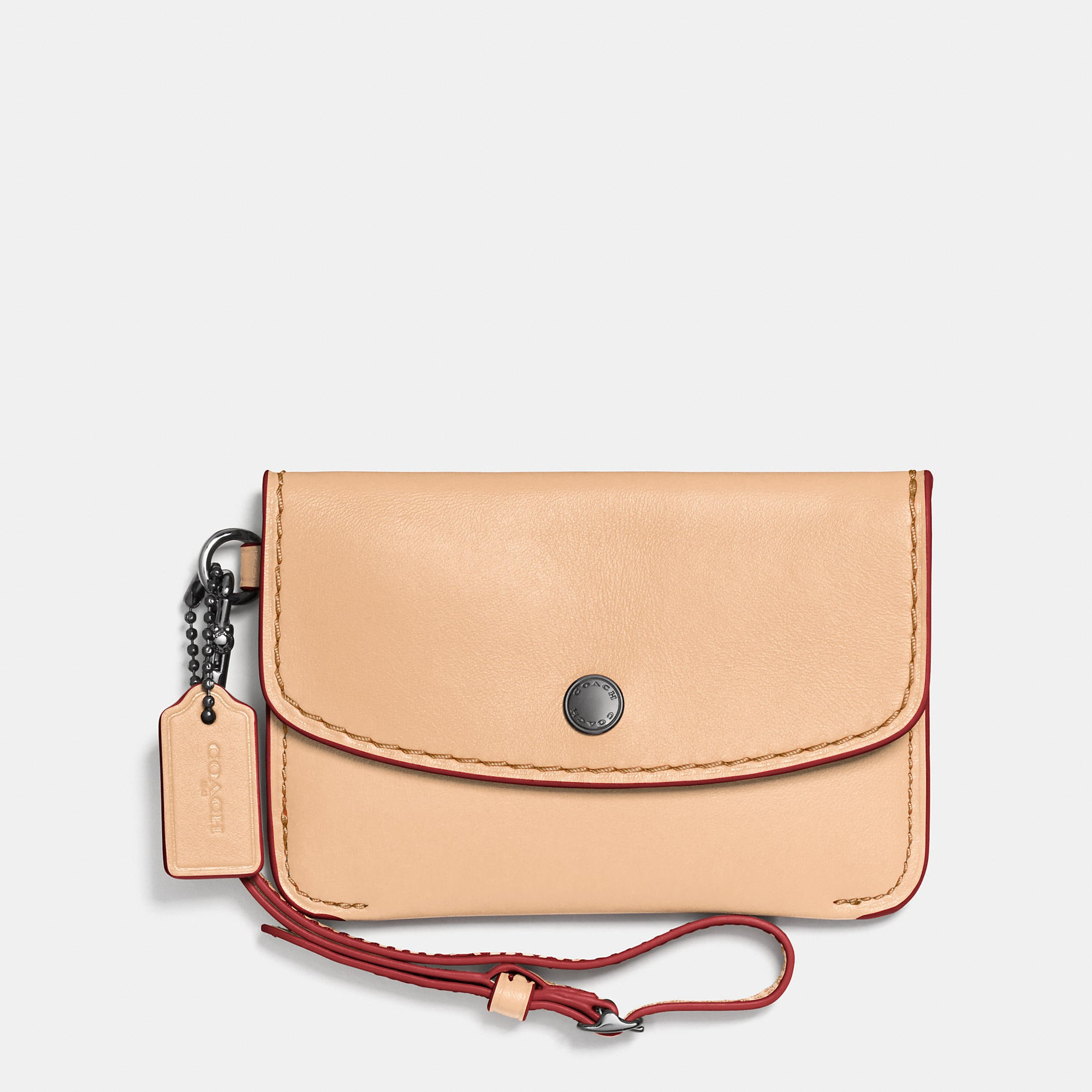 Coach 1941 Envelope Key Pouch In Glovetanned Leather