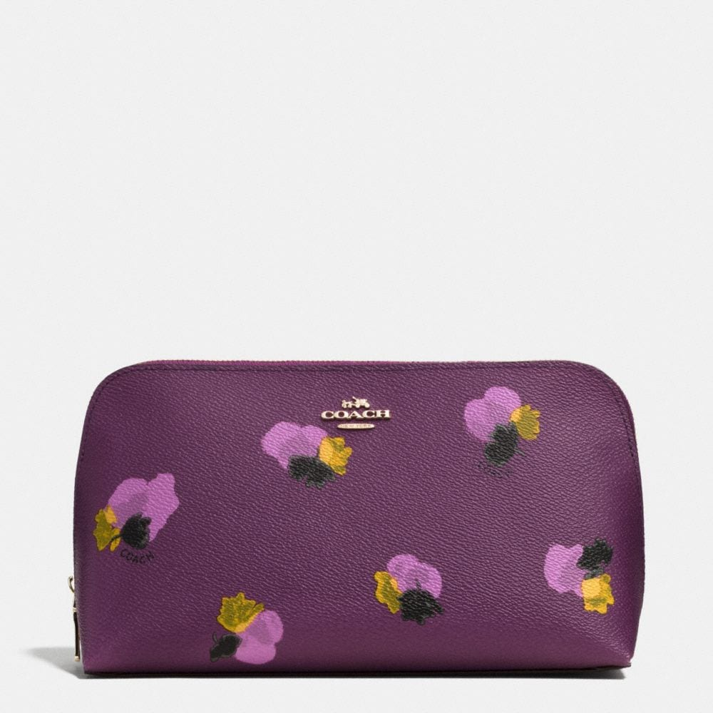 COSMETIC CASE 22 IN FLORAL PRINT COATED CANVAS