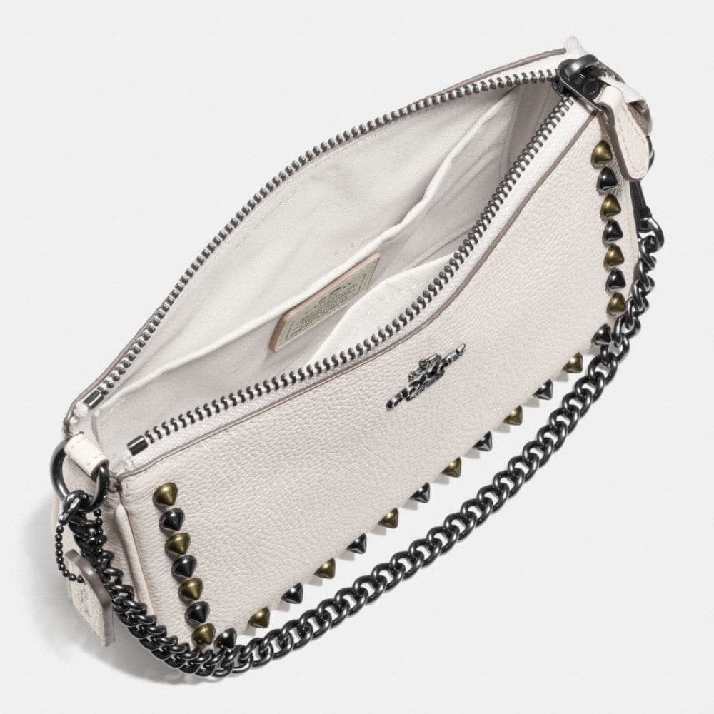 OUTLINE STUDS NOLITA WRISTLET 19 IN LEATHER - Alternate View A1