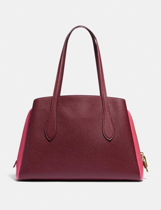 Coach Lora Carryall in Colorblock Brass/Wine Multi Women Handbags Totes & Carryalls Alternate View 2
