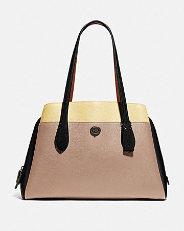 borsa portatutto lora a blocchi di colore