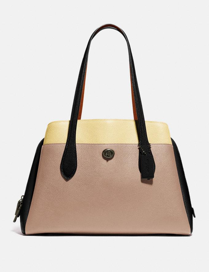 Coach Lora Carryall in Colorblock V5/Taupe Multi Cyber Monday For Her Cyber Monday Sale