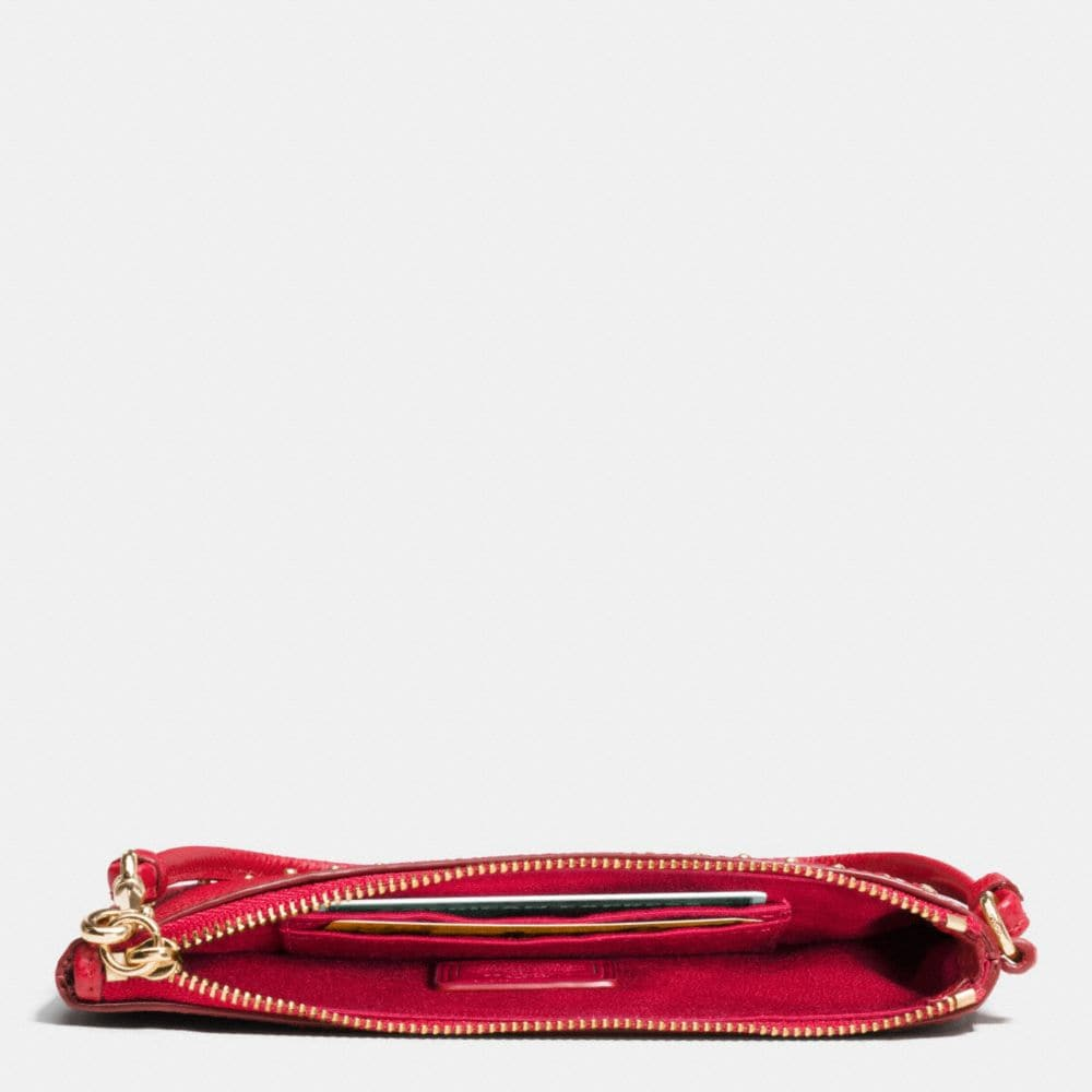 Edge Studs Small Wristlet in Leather - Alternate View A1