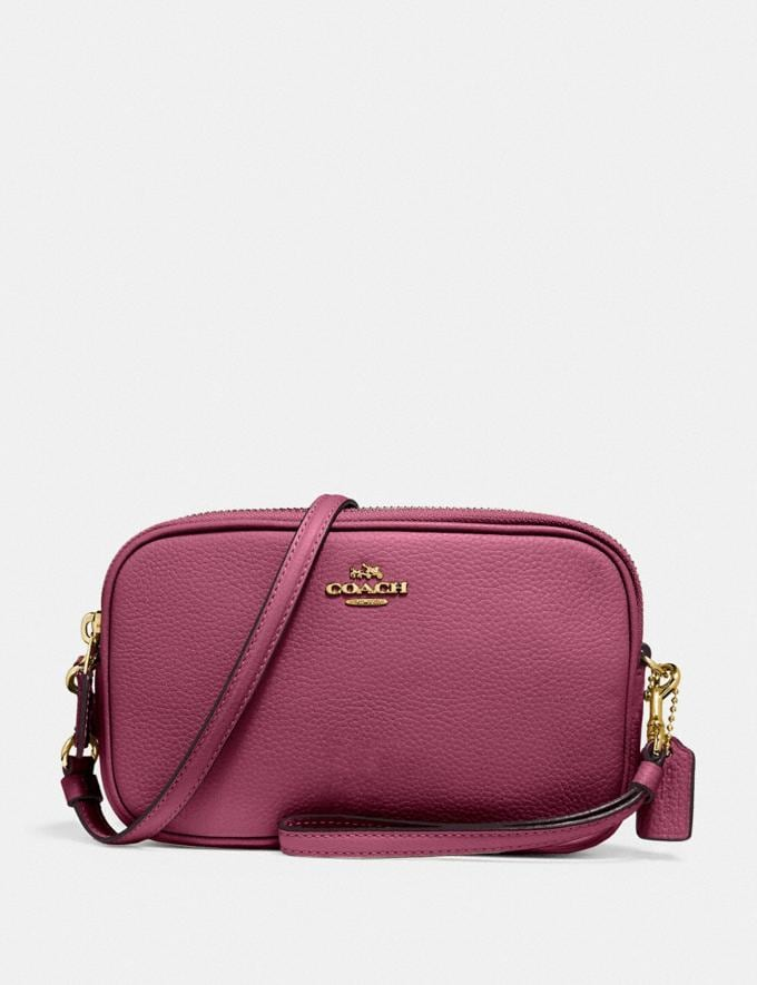 Coach Sadie Crossbody Clutch B4/Dusty Pink New Featured Bestsellers