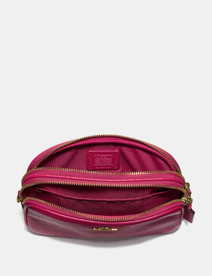 Coach Sadie Crossbody Clutch Bright Cherry/Gold Women Handbags Crossbody Bags Alternate View 2