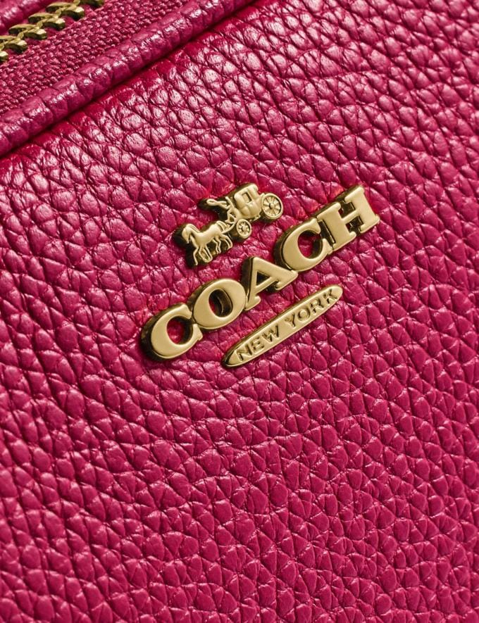 Coach Sadie Crossbody Clutch Bright Cherry/Gold Women Handbags Crossbody Bags Alternate View 4